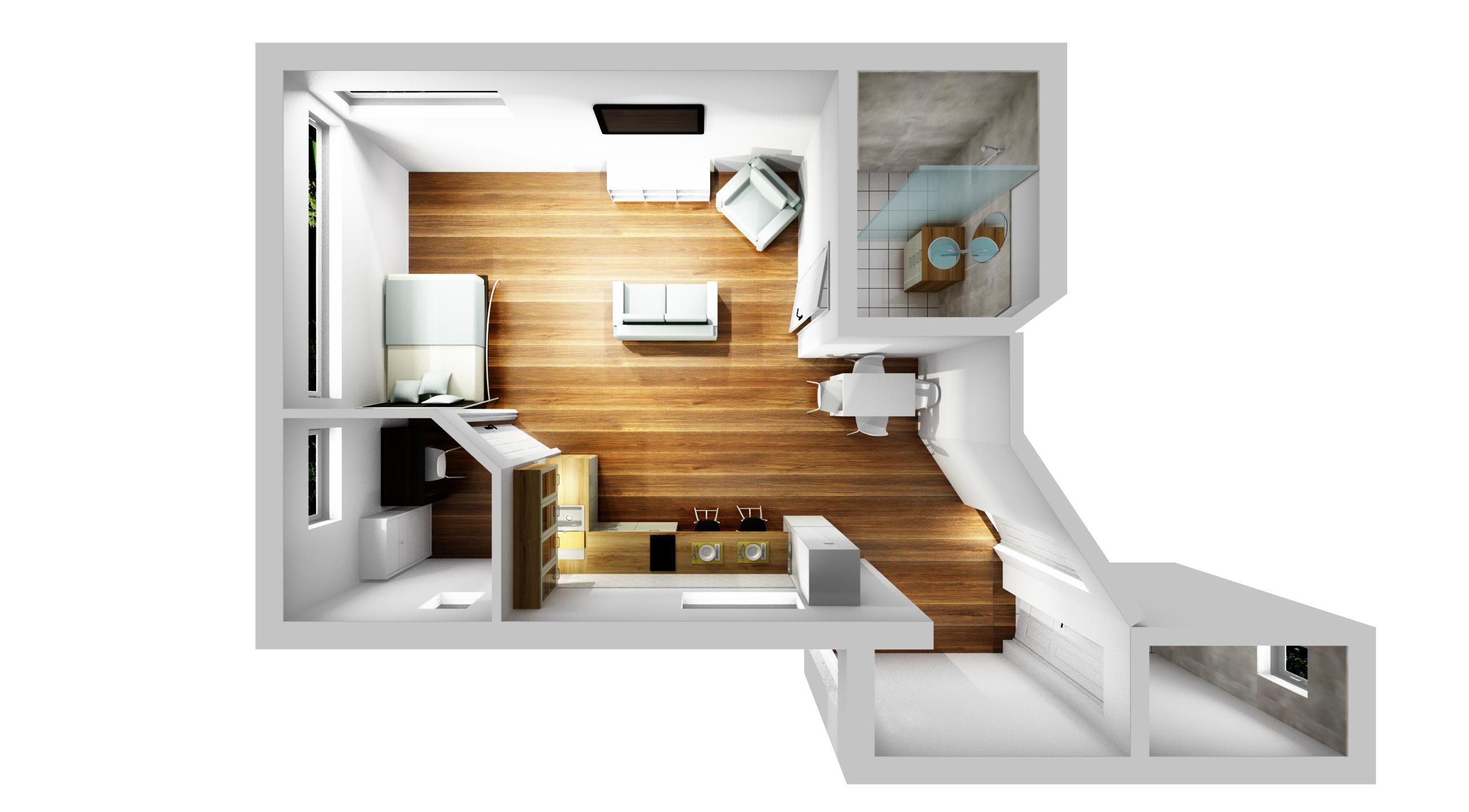 Szuterén Studiólakás Pince áttervezése lakássá